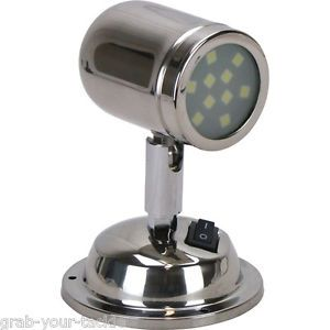 Details About 12 Volt Led Interior Reading Swivel Bunk Light Caravan Boat Polished Stainless