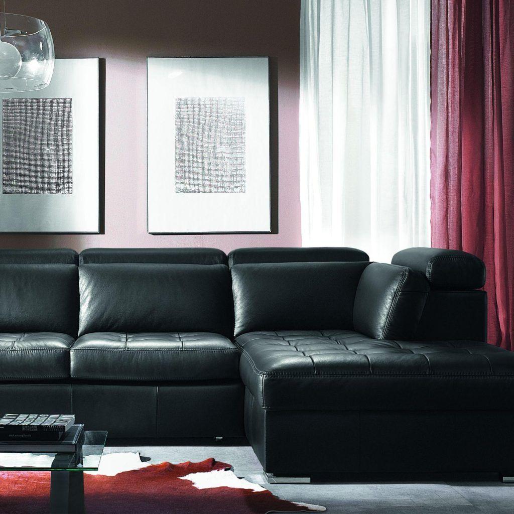 Living Room Design Ideas Black Leather Sofa