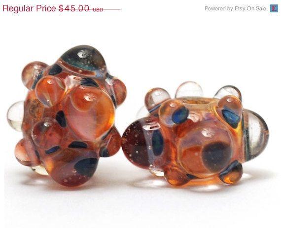 ON SALE 30 OFF Handmade Glass Lampwork Bead Set  Six by gracebeads, $31.50