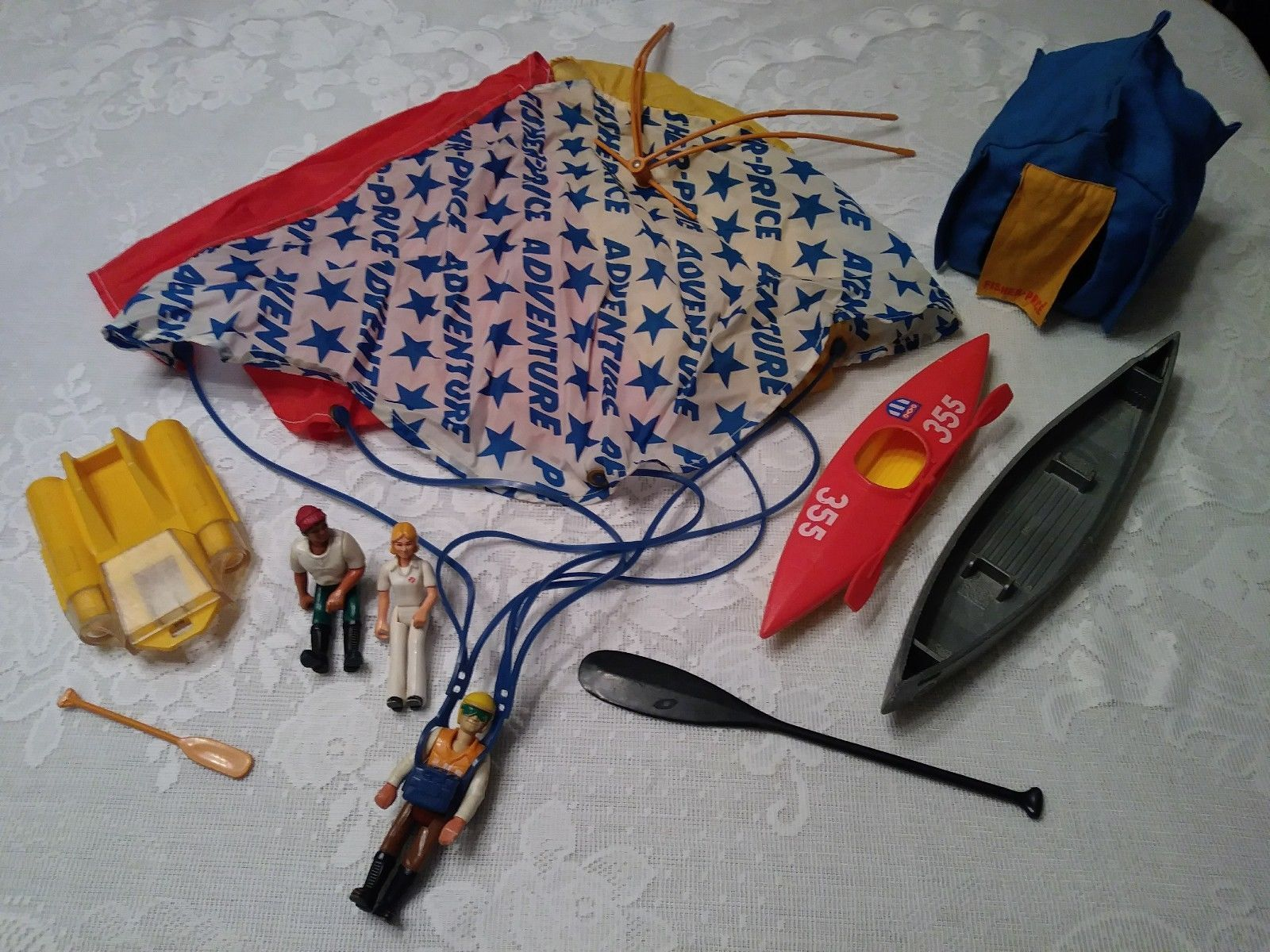 Vtg fisher price adventure people lot camping daredevil canoe vtg fisher price adventure people lot camping daredevil canoe kayak parachute buycottarizona