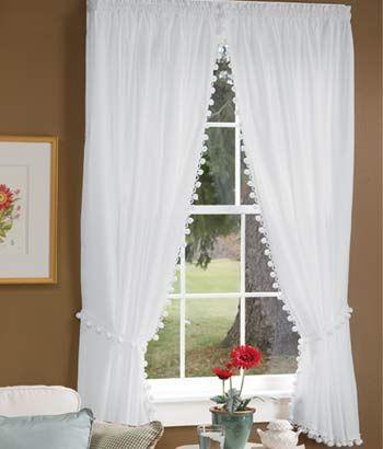 classic ball fringe perma-press rod pocket curtains http://www