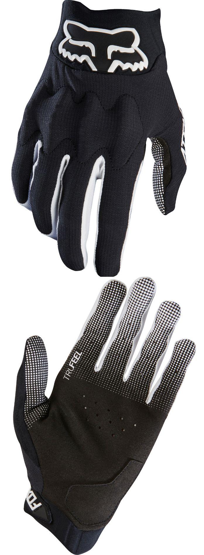 Gloves fox racing mtb mens black white attack gloves downhill