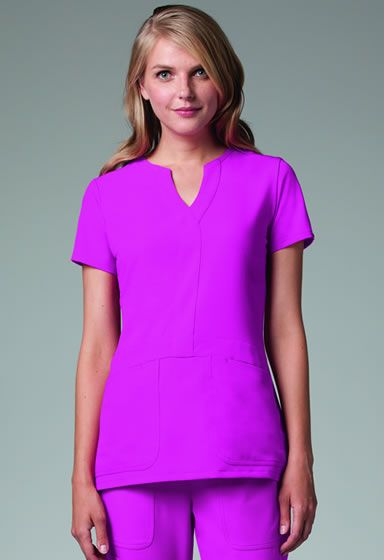 3c11dea301a Grey's Anatomy Signature Series Mock Wrap Top #2116. Available in 12 colors!  NationalScrubs.com
