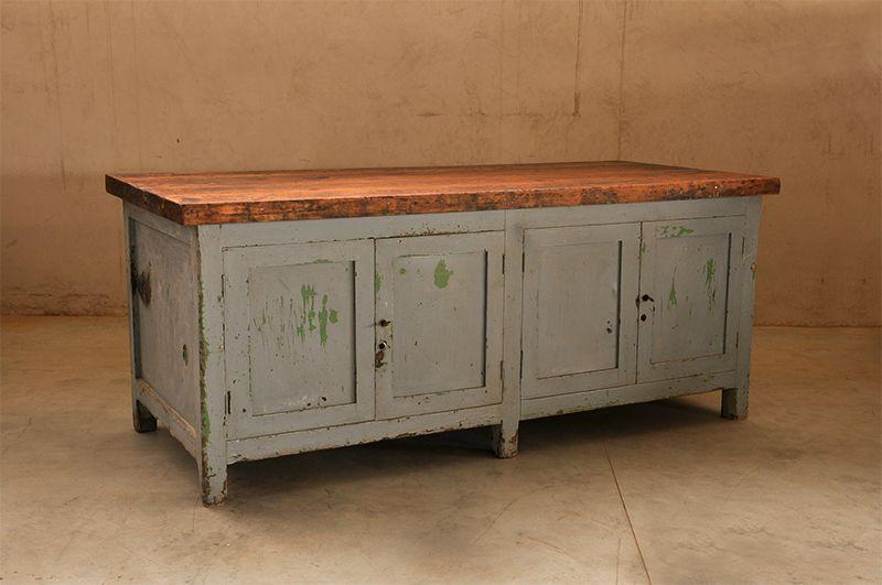 Tavoli Da Lavoro Vecchi : Interior design recupero vecchio tavolo da lavoro chiuso in basso