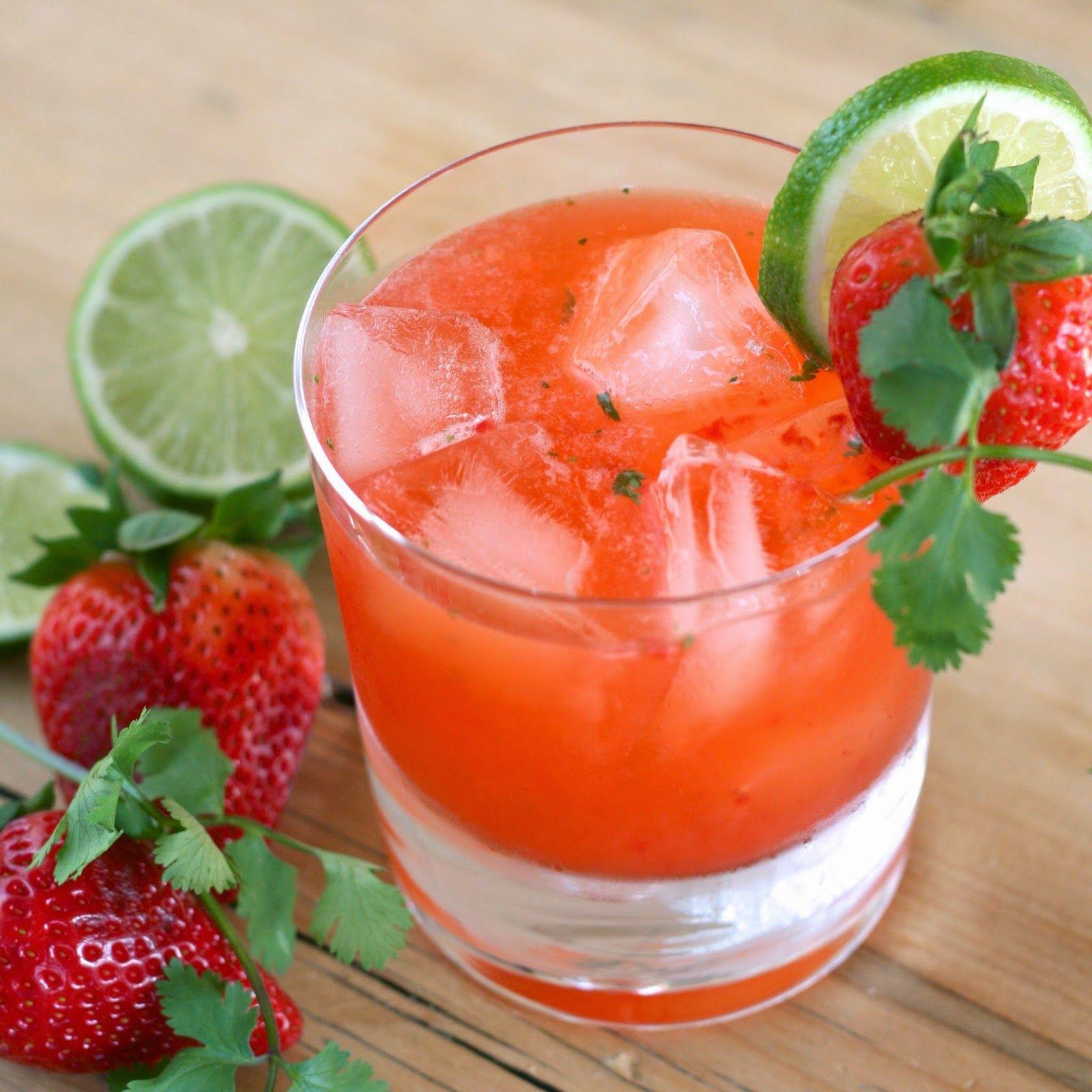 Strawberry Cilantro Margaritas... perfect for cinco de mayo