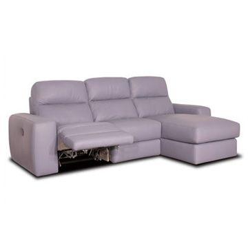 Sofá relax de 3 y 2 plazas con chaise longue modelo Andrea