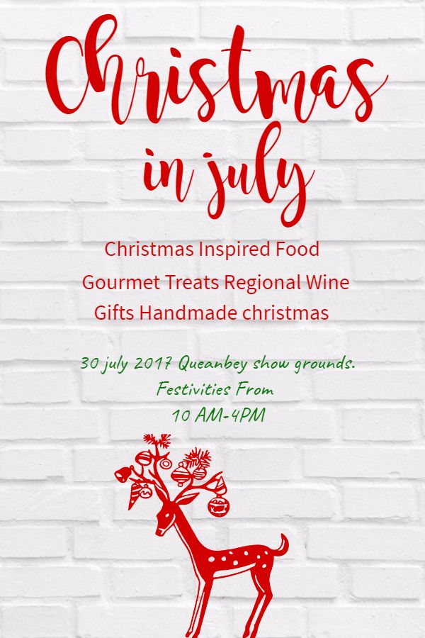 Christmas in july retail sale flyer design template Christmas