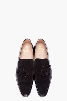 MR.HARE Black Combo Leather Genet Loafers
