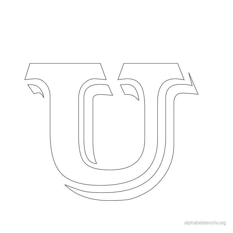 Print Free Alphabet Stencils Vintage U  Typo
