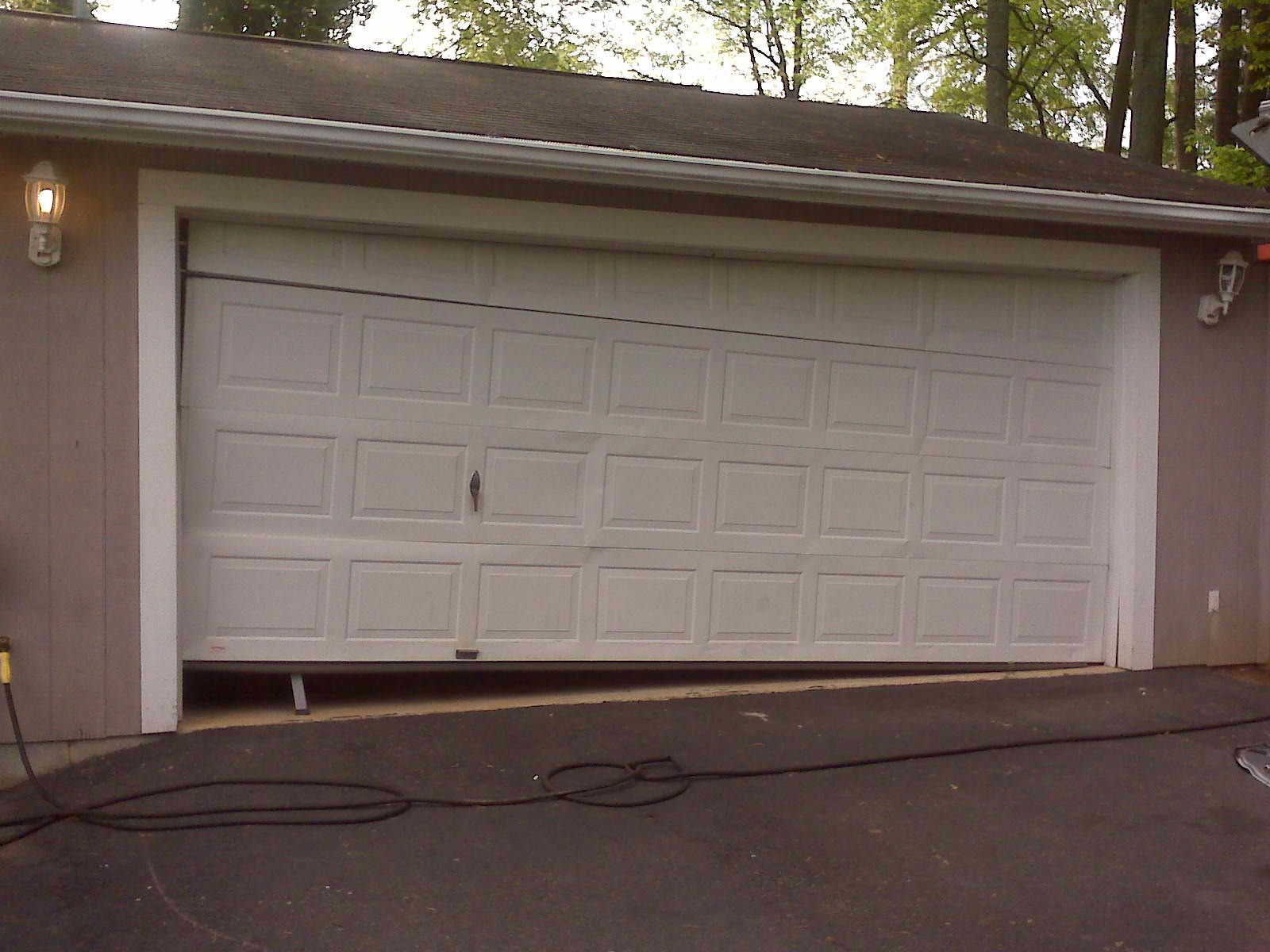 Garage Doors Made Into One Door After Plus Tilt How Can Replace With