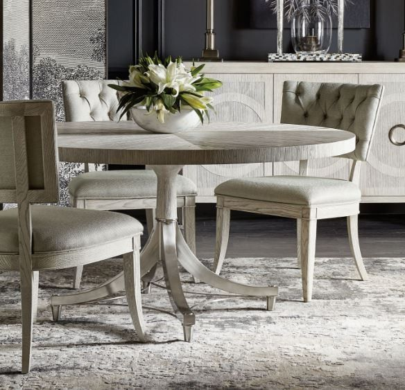 Domaine Blanc Round Dining Table - Bernhardt Furniture ...