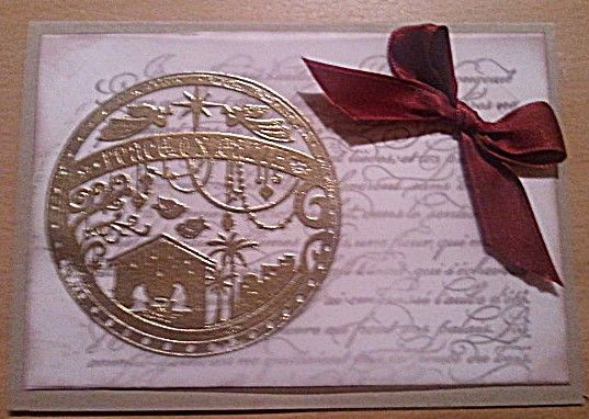 Weihnachtskarte #Christmascard #Embossing #Gold #Weihnachtskarte #Peaceonearth