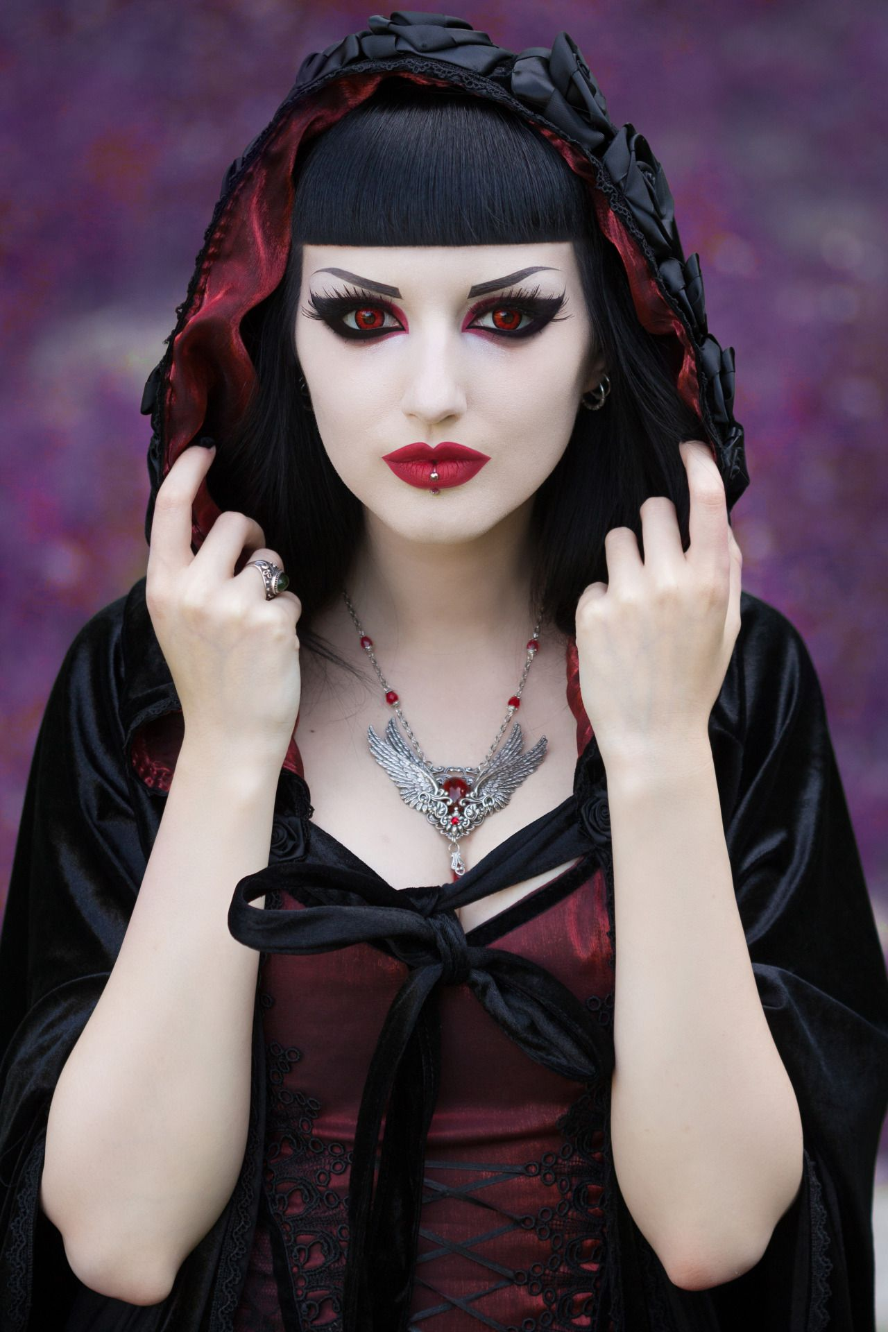 Model: Obsidian Kerttu Photo: John Wolfrik Clothes: Sinister - Jewellery: Nocturne Jewellery for Gothic and Amazing Magazine Make sure to get your digital or printed version...