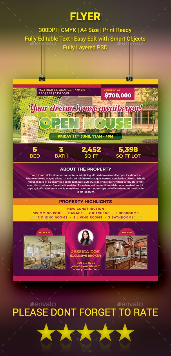 Open House Flyer Open house, Flyer template and House - open house templates
