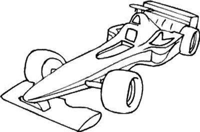Race Car F1 Coloring Page