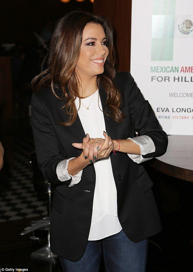 Good spirits: The former Desperate Housewives star was all smiles at the event...