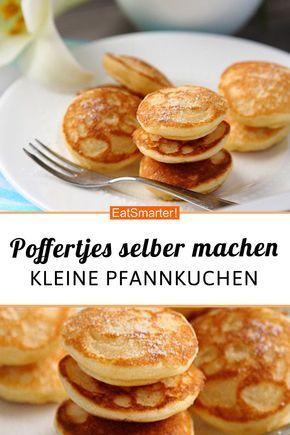 Poffertjes ganz einfach selber machen!   eatsmarter.de #poffertjes #pfannkuchen #dessert