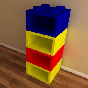 Building Block Bookcase Shelving Unit Lego Room Lego Room Decor Kid Room Decor