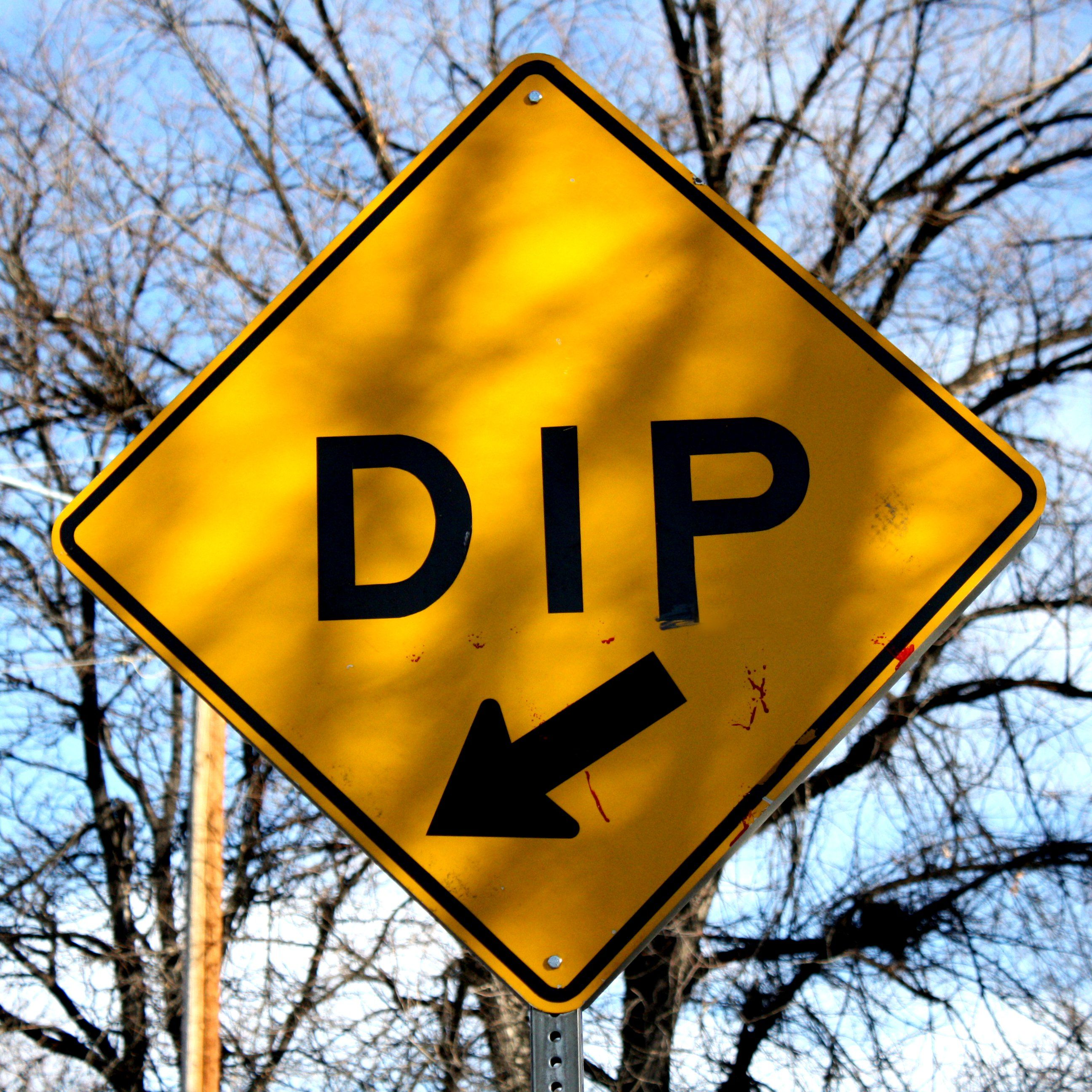 REAL DIP STREET TRAFFIC SIGN
