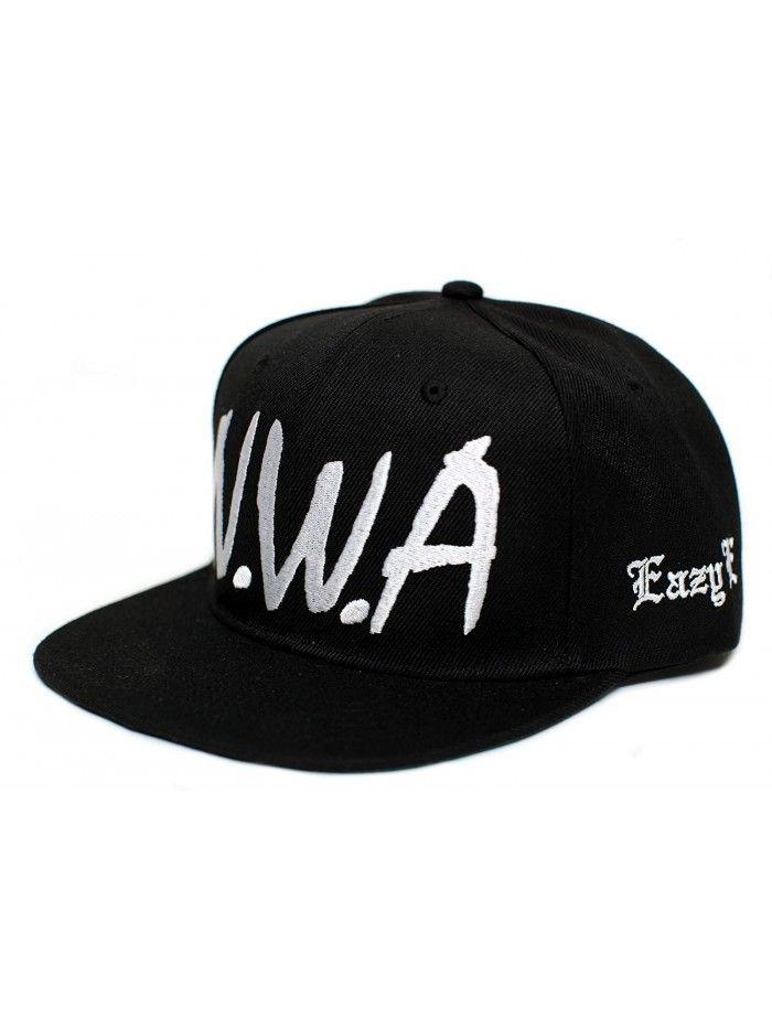 New Eazy E N.W.A Vintage Flat Bill Cap Hat Snapback Unisex Adult Black -  CX182M7G3RH - Hats   Caps 74746fc7cd7e