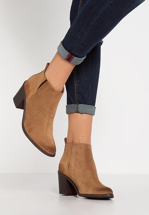 Pieces Psumiko Ankle Boot Cognac Zalando Pl Boots Ankle Boot Ankle