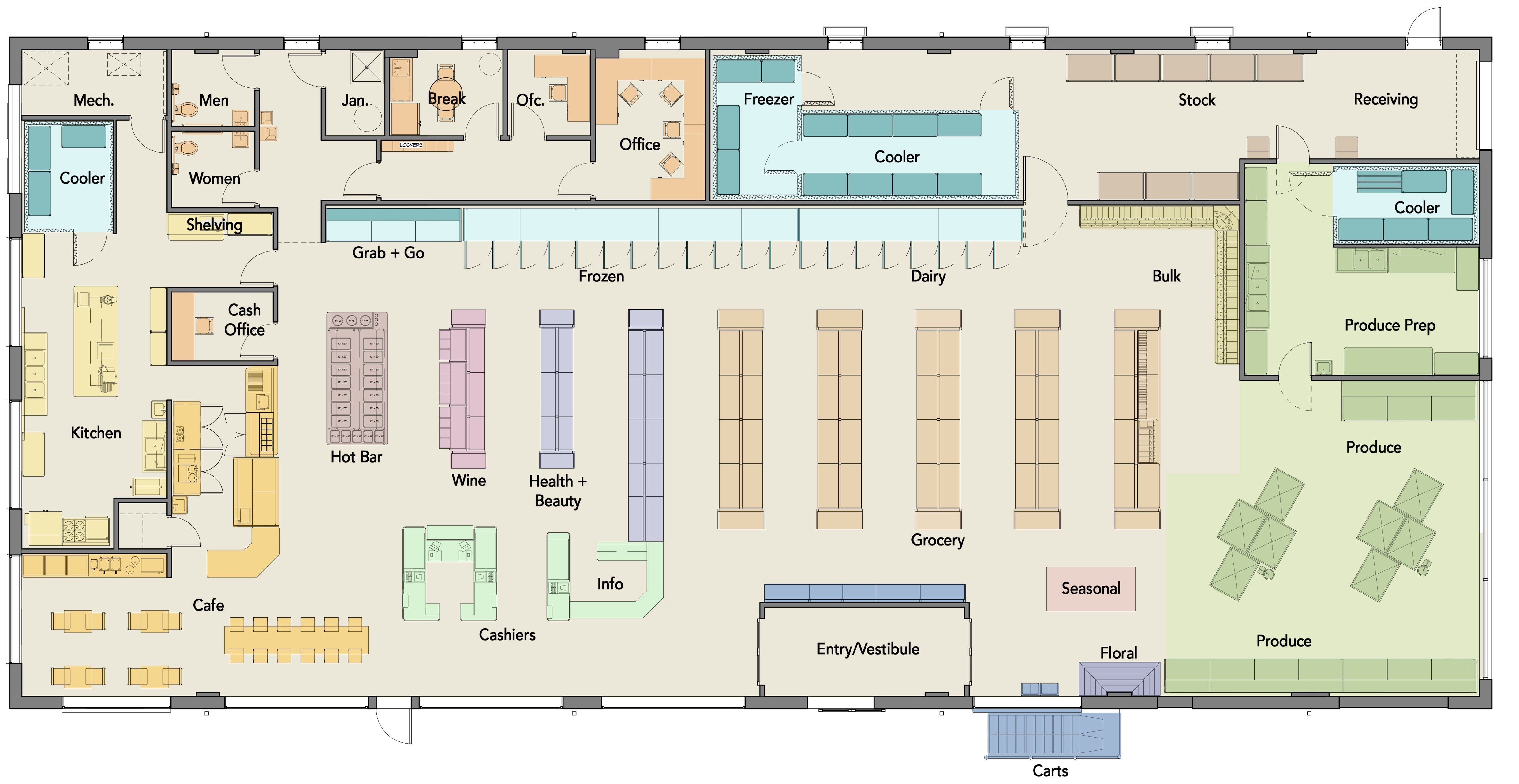 Grocery Store Floor Plan Inspirational Layout Of A Supermarket Google Search Supermarket Design Store Layout Grocery Store Design