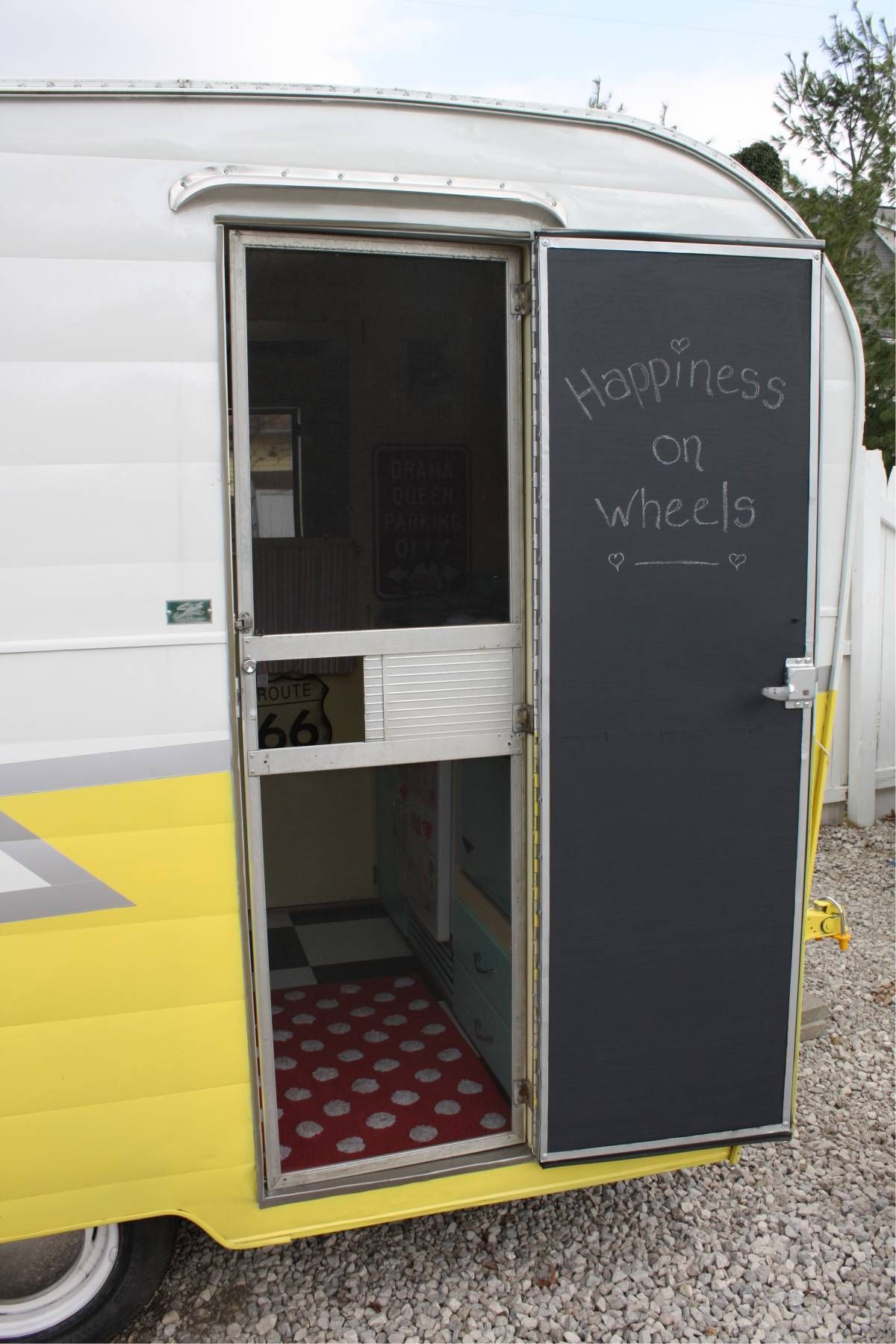 How to Paint Your Vintage Trailer Door with Chalkboard Paint & How to Paint Your Vintage Trailer Door with Chalkboard Paint ... pezcame.com