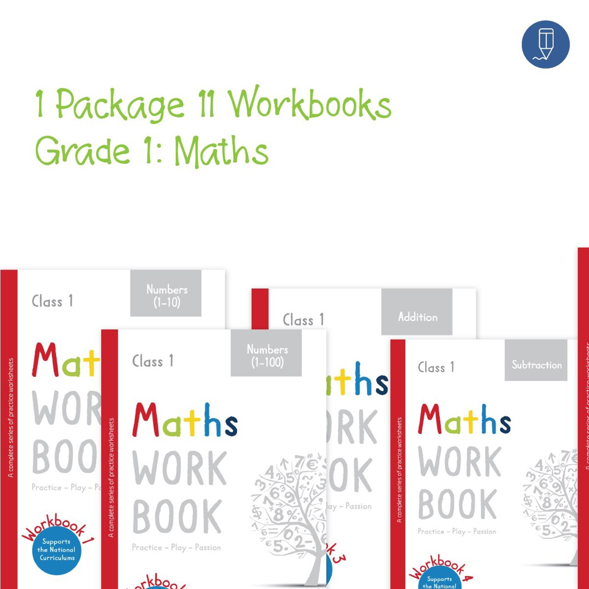 Maths Worksheet Package Grade 1 All Concepts