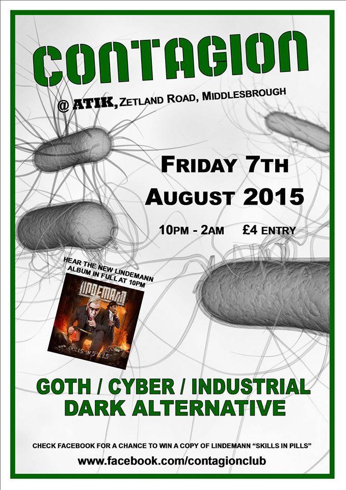 Contagion @ Atik, Middlesbrough