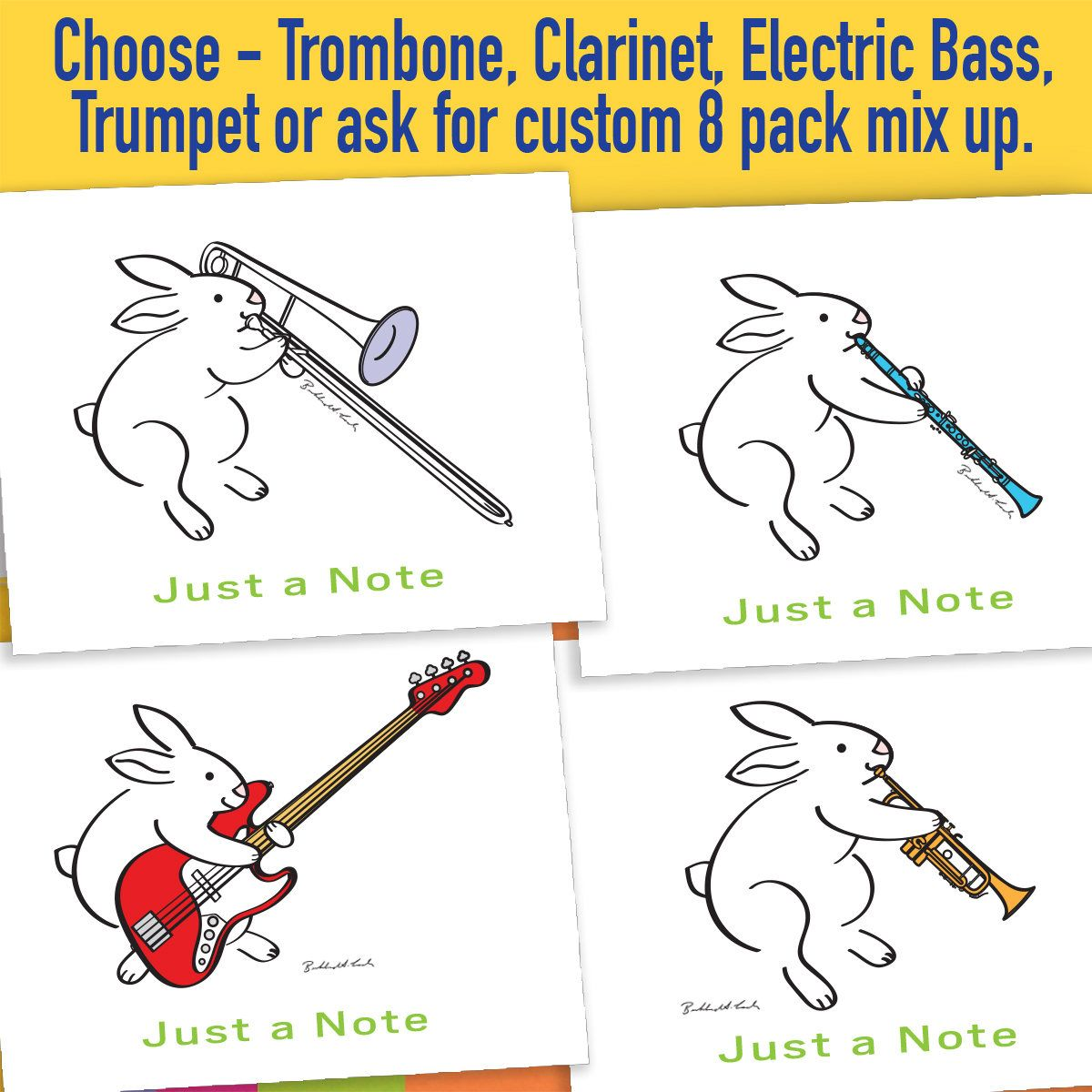 Note Cards Music Note Cards Blank Cards Stationery Clarinet Note Cards Music Music Teacher Gift