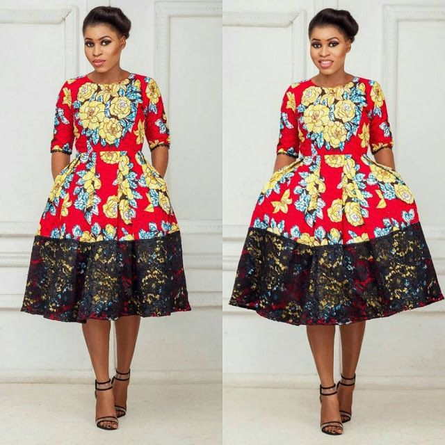 Lovely Ankara Short Gown And Lace Combinations Styles Ankara