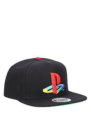 free shipping c4594 39795 PlayStation Logo Snapback Hat,