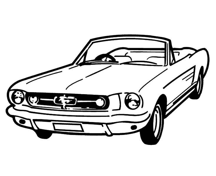 Coupe Car Mustang Coloring Pages Best Place To Color Cars Coloring Pages Race Car Coloring Pages Cool Coloring Pages