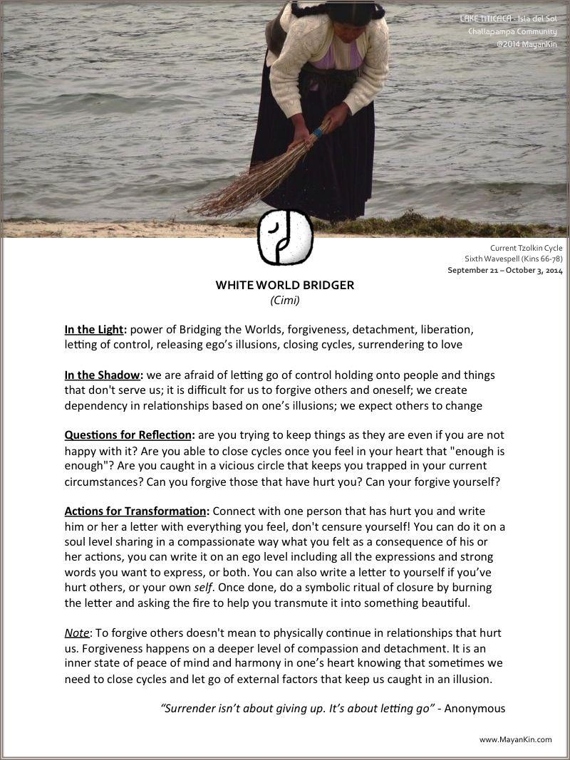 Mayankin Cimi White World Bridger Tzolkin Wavespell 2014 Mayan