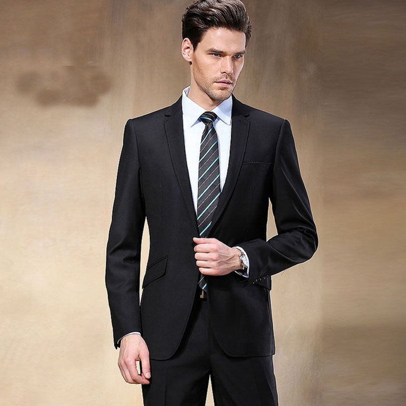 New-Western-Style-Black-Color-Men-Business-font-b-Suits-b-font ...
