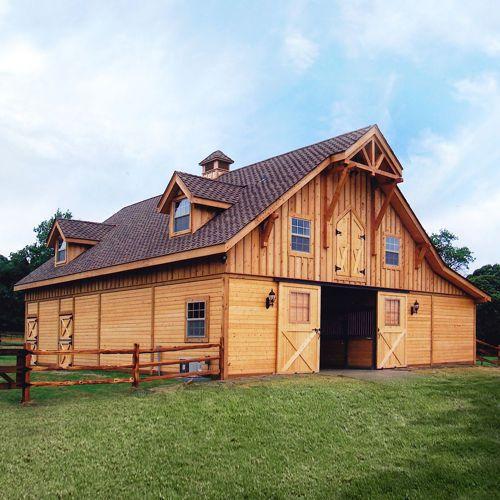 Barn pros post frame barn kit buildings homes for Horse barn house