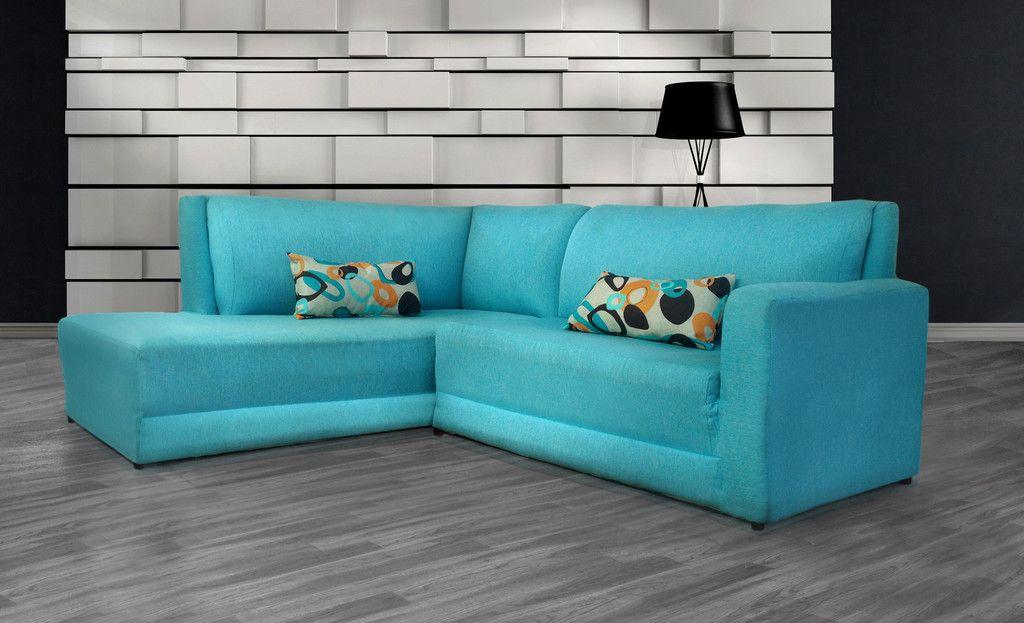 Sala minimalista saire tela azul turquesa tips - Sofa azul turquesa ...