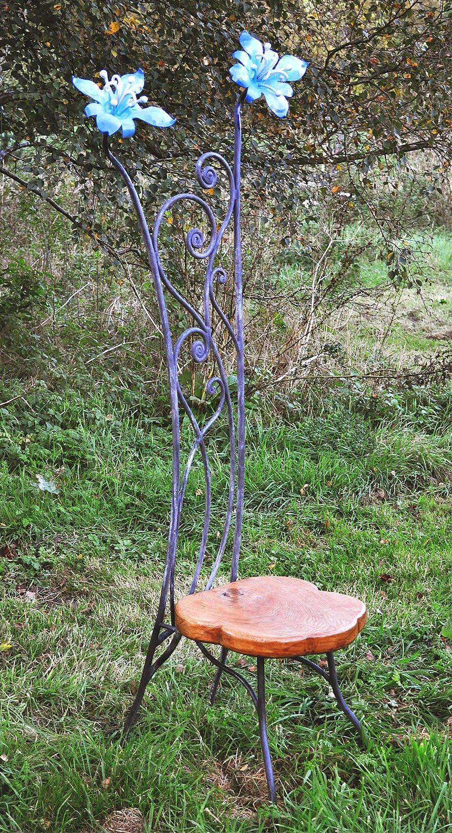 Sculpture and garden art  artistic metal furniture and