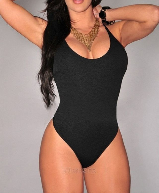 thong one piece bandage bodysuit swimwear women american apparel
