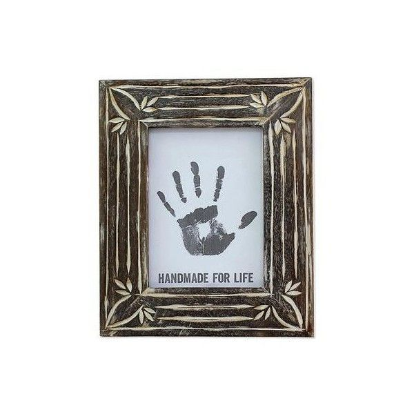Novica Wood Photo Frame White And Brown 5x7 From India 35