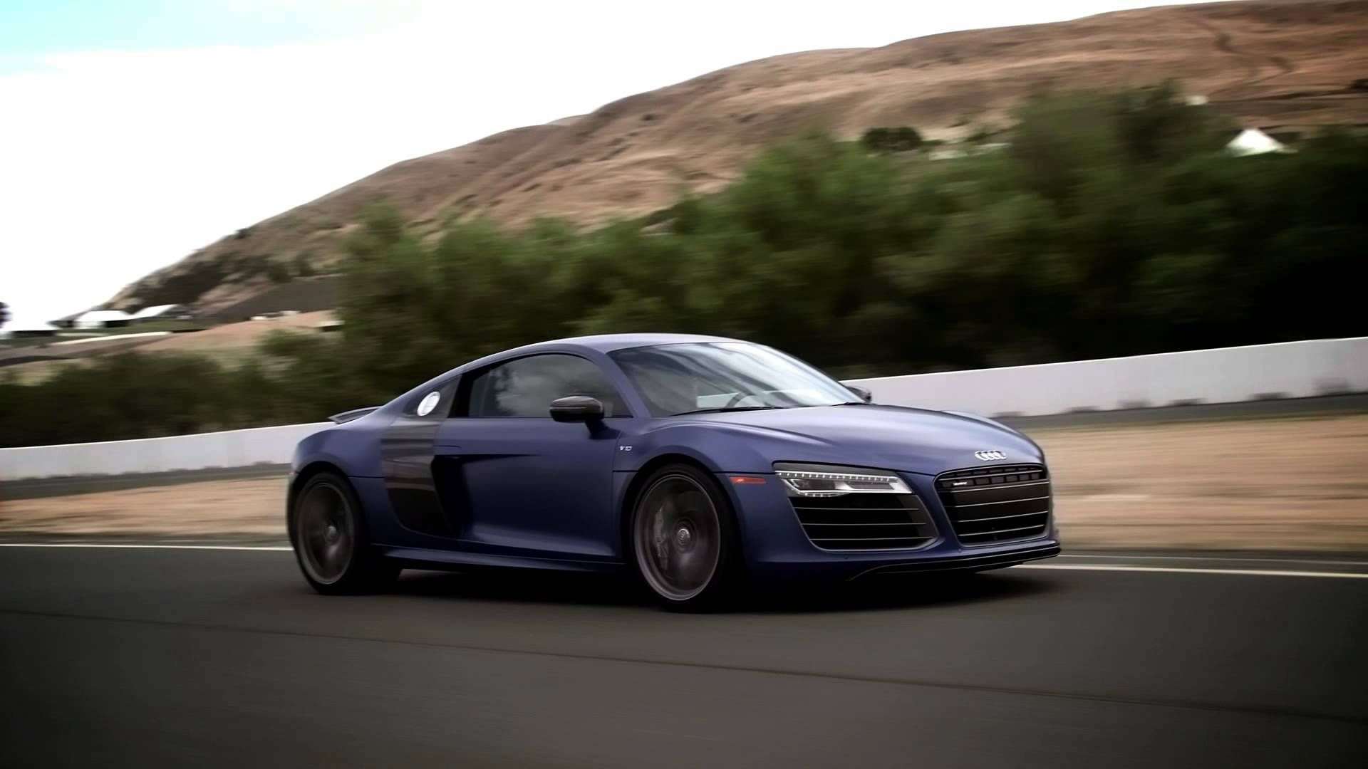 Audi R8 and RS5 at Sonoma raceway during the Audi sportscar
