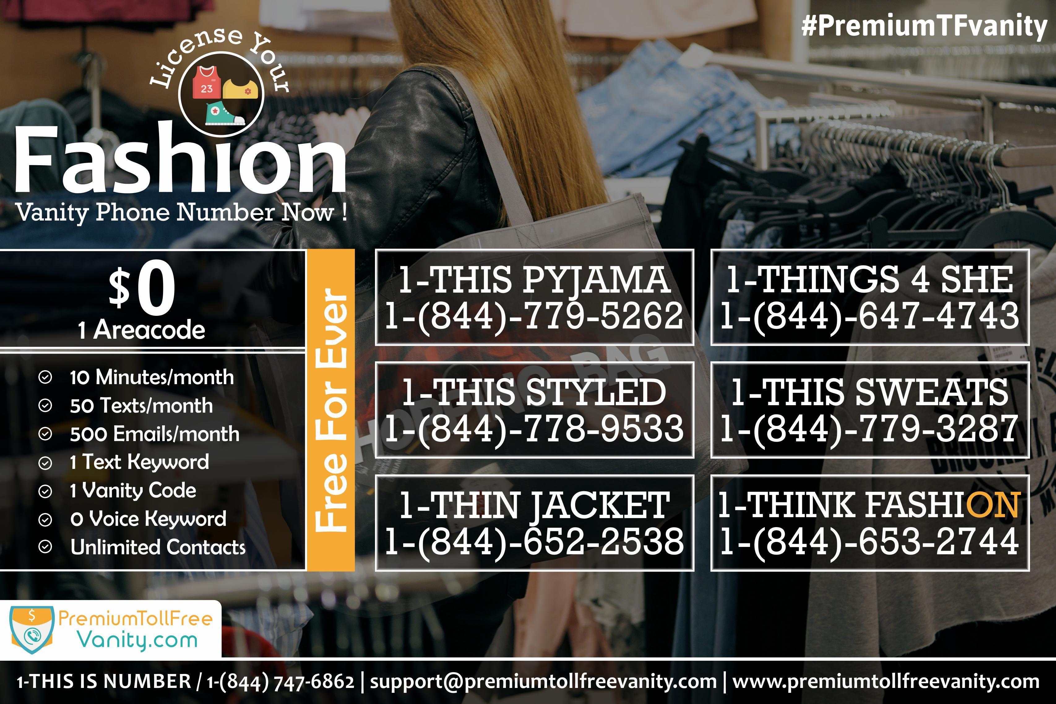 Pin By Premium Toll Free Vanity Numbers On Fashion Vanity Numbers