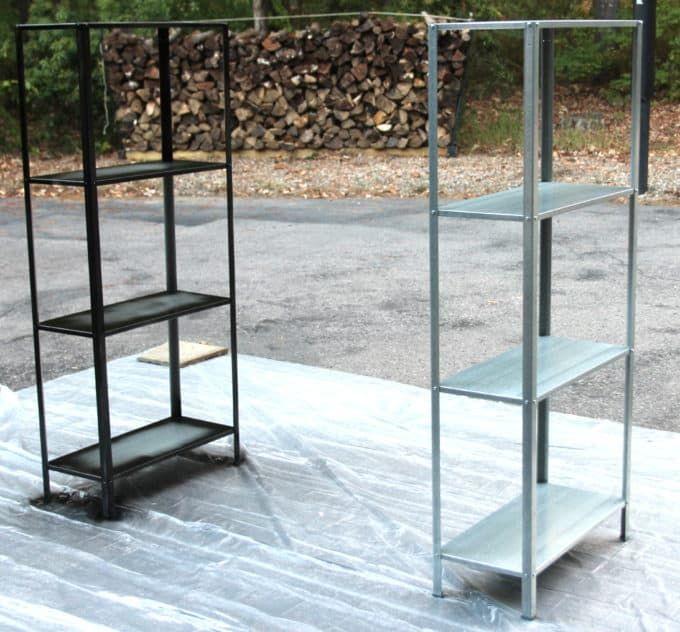 Ikea Hack Rustic-Industrial Bookcase