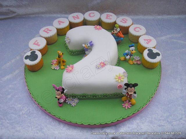 Number 2 Cake Disney Characters Number 2 numerical shaped birthday
