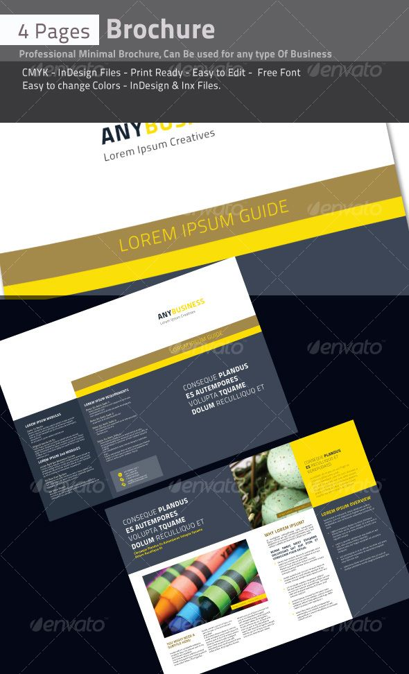 4 pages professional brochure pinterest brochures brochure