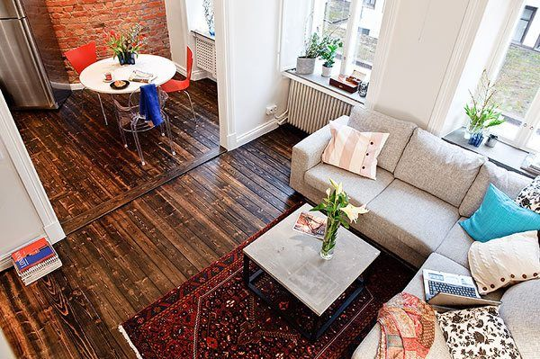 Zweeds Gemixt Appartement : Klein appartement in zweden comfortabel en modern decoratie