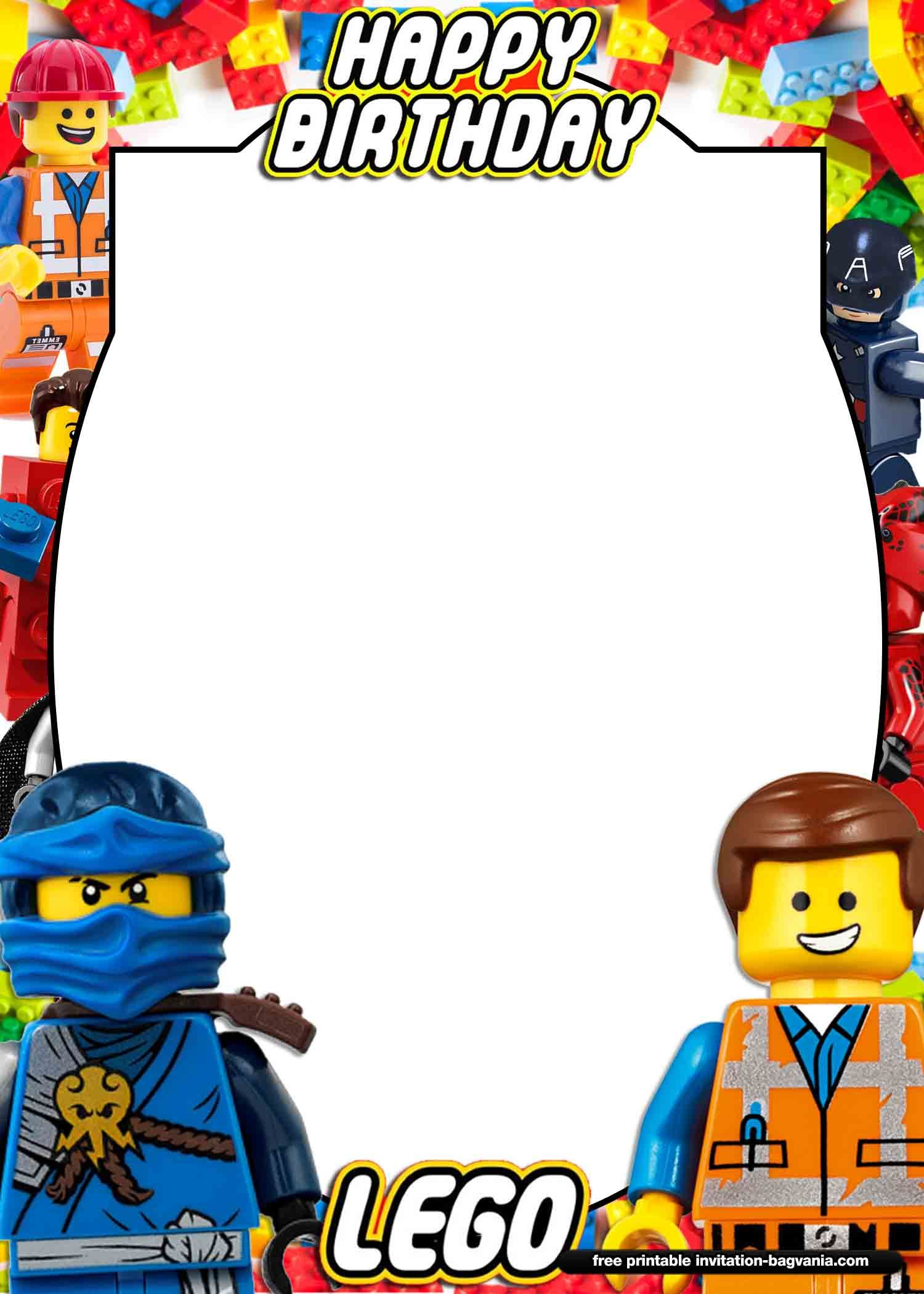 FREE Printable LEGO Birthday Invitation Templates  Lego ninjago