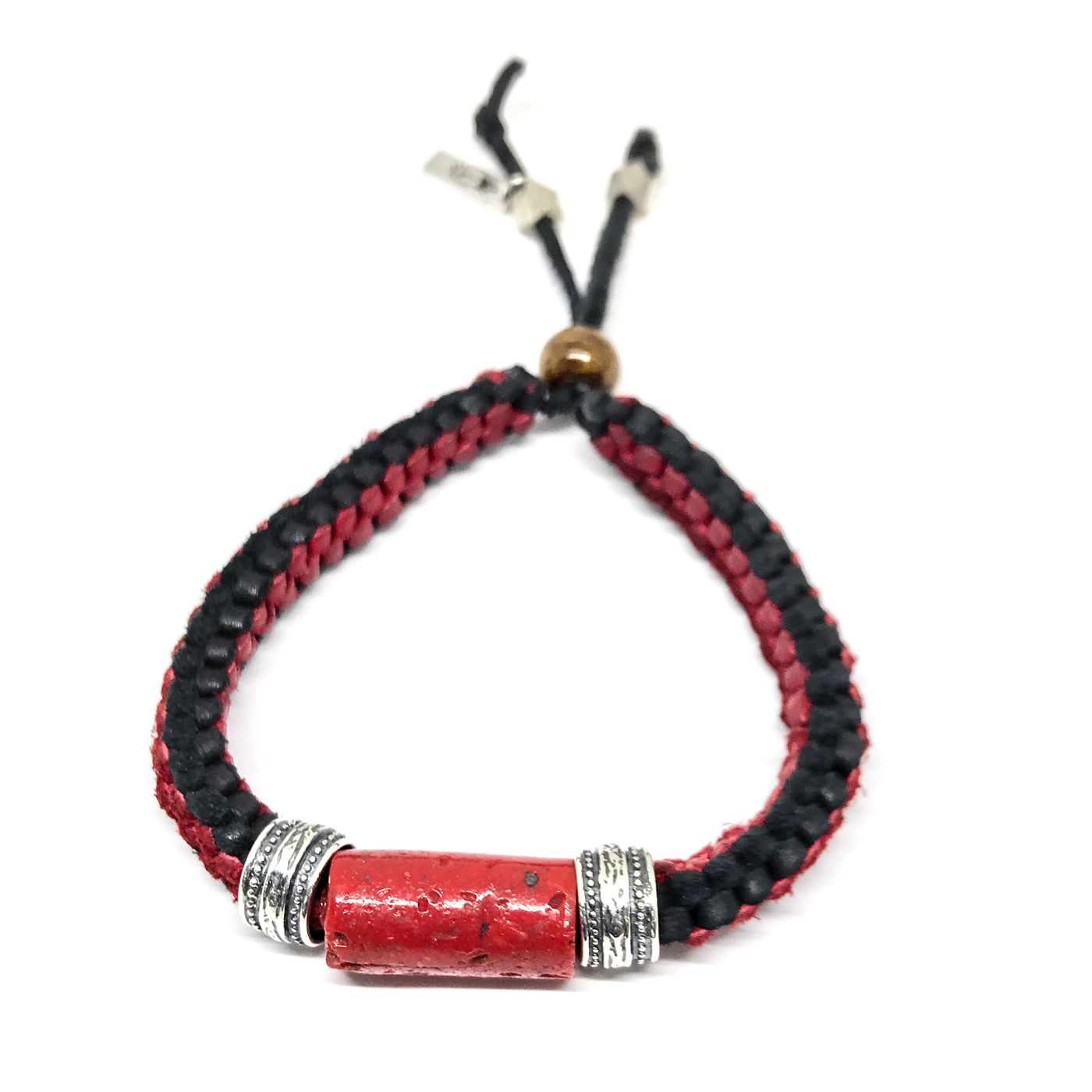 Limited edition coral u leather menus bracelet bracelets and beads