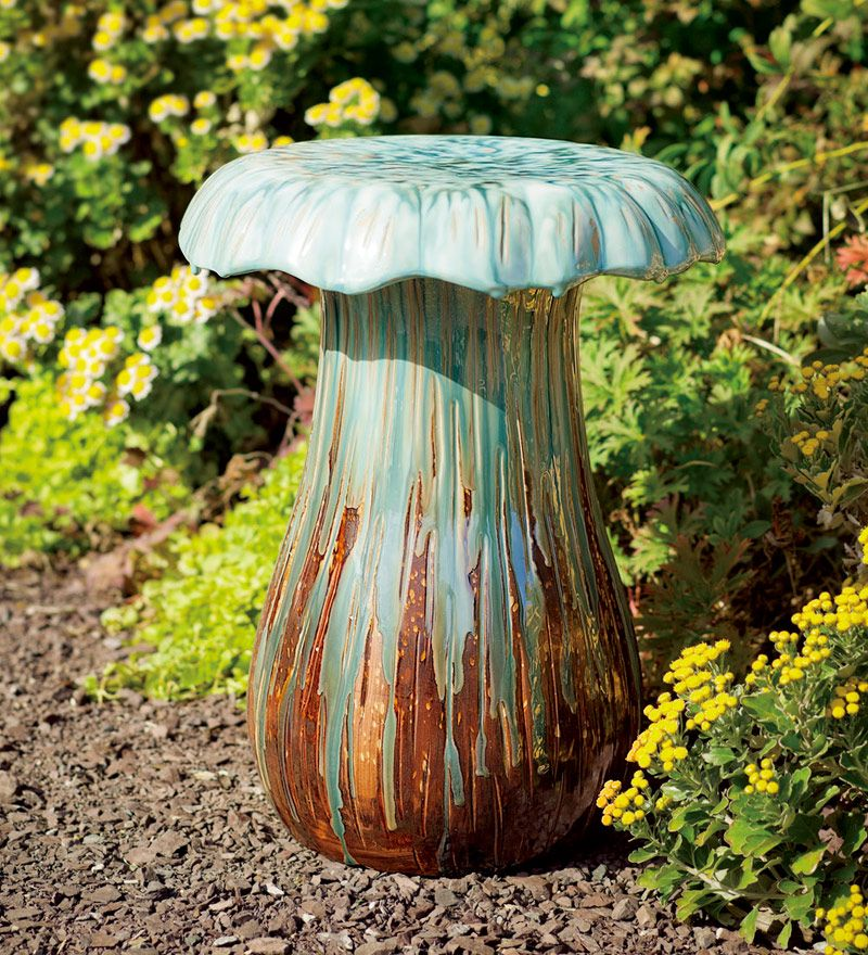 Mushroom Stool From Plow And Hearth