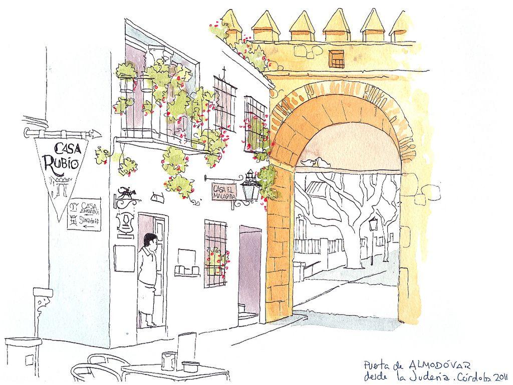 Ayer estuve en Córdoba dibujando con Álvaro y otros sketchers de la capital andaluza. Hizo un día muy soleado y pasamos un buen rato. Aqui p...